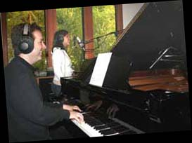 Jenole with Christopher recording