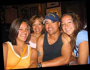 Jenole with her mom Jaylin, brother Kawika and sister Cara